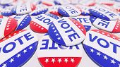 Us Elections Concept Vote Usa 3d Rendering poster