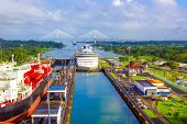 View Of Panama Canal From Cruise Ship At Panama poster