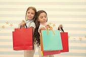 Total Sale. Black Friday. Shopping Together. Buy Clothes. Addicted Buyer. Fashion Boutique. Children poster