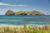 View From Neds Beach Of The Turquoise Waters Of Sugarloaf Island, Lord Howe Island, Australia poster