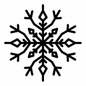 Linear Snowflake Icon. Outline Linear Snowflake Vector Icon For Web Design Isolated On White Backgro poster
