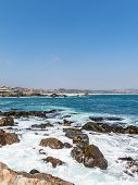 General Image Of The Pacific Ocean Coast, From The Tourist Town Of Las Cruces, On The Chilean Coast. poster