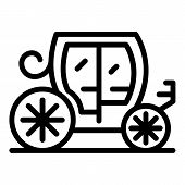Royal Carriage Icon. Outline Royal Carriage Vector Icon For Web Design Isolated On White Background poster