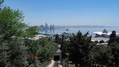 View From Funicular To Stunning Cityscape With Modern Architectural Buildings And Coastline Washed B poster