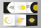 Vector Editable Layout Of Square Format Covers Design Templates For Trifold Brochure, Flyer, Magazin poster