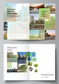 Vector Layout Of Two A4 Cover Mockups Design Templates For Bifold Brochure, Flyer, Magazine, Cover D poster