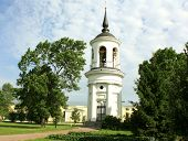 foto of tsarskoe  - Belfry of the Sophia Cathedral in Tsarskoe Selo built by the architect Cameron in the late eighteenth century - JPG