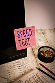 Handwriting Text Writing Speed Test. Concept Meaning Psychological Test For The Maximum Speed Of Per poster