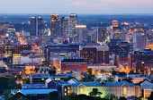 image of alabama  - Metropolitan Skyline of downtown Birmingham - JPG
