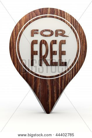 3d render of a symbol free sign on a set of wooden  markers