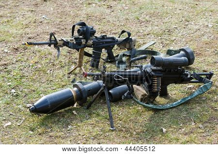 Automatic Weapons On Ground