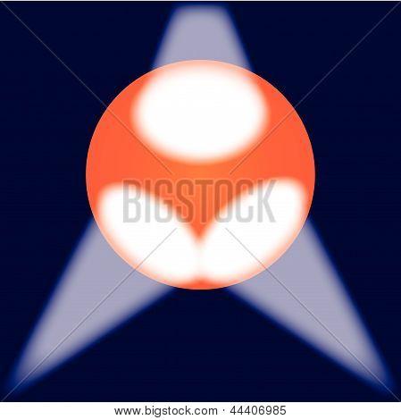 Spotlit Globe