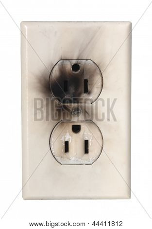 scorched electrical outlet