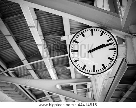 Public Clock In Railway Station