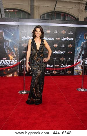 "LOS ANGELES - APR 11:  Cobie Smulders arrives at ""The Avengers"" Premiere at El Capitan Theater on April 11, 2012 in Los Angeles, CA"
