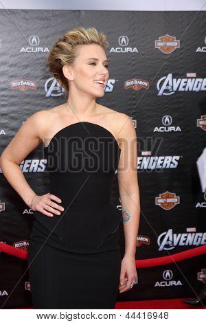 LOS ANGELES - APR 11:  Scarlett Johansson arrives at