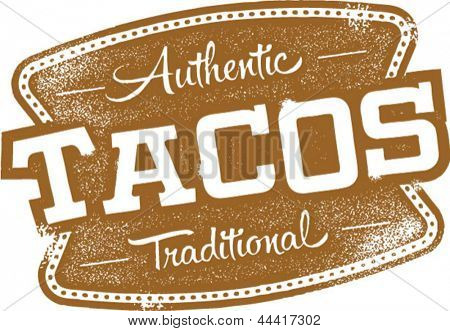 Vintage Mexican Tacos Sign