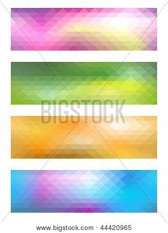 Mosaic Banner Set