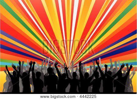 Jubel Rainbow Publikum