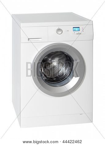 Washing machine isolated on the white background