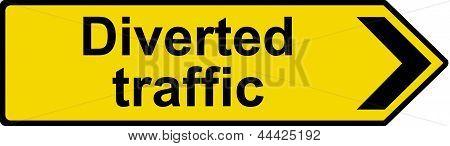 Diverted traffic sign