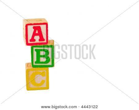 Abc Blocks Stacked