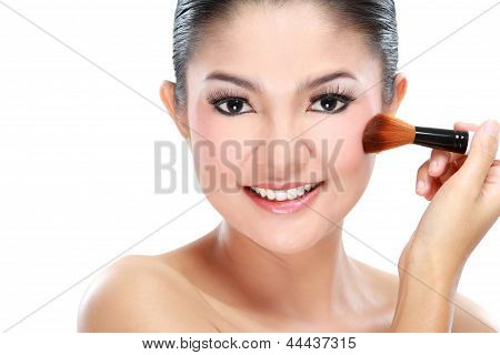 Woman Make Up Her Face
