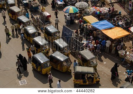 Auto Taxis from above, Hyderabad