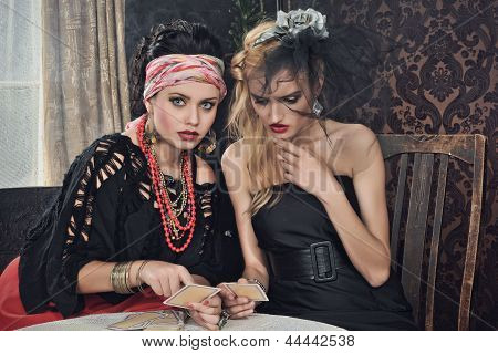 Gypsy Fortune Teller Cards Spells