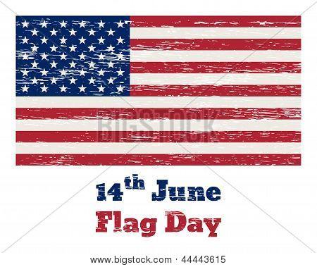 Usa Flag Vintage 14 July