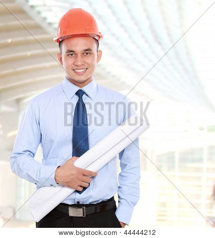 Young Asian Man Architect