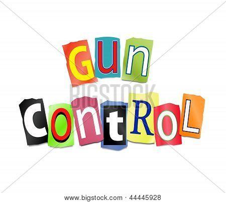 Gun Control Concept.