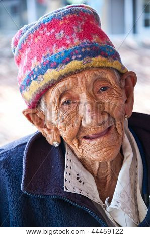 Old Lady Smile With Happy