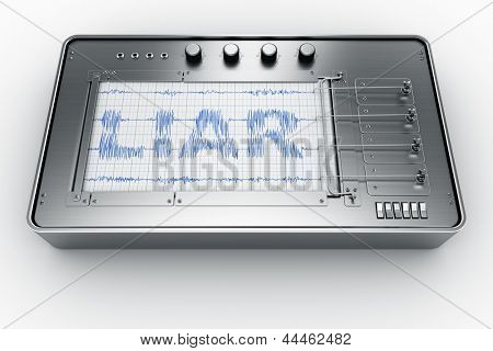 3d rendering of a lie detector