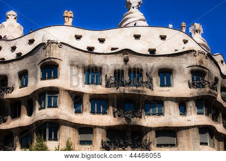 Barcelona, Spain - April 13: Casa Mila (la Pedrera) On April, 13 2013 In Barcelona, Spain. This Famo