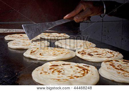 Indian Parrotha Bread taken in Tamil Nadu State