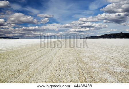 Playa Of The Black Rock Desert Under A Stormy Sky East Of Gerlach Nevada