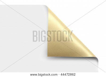 Onda de ouro canto de página