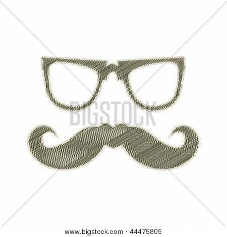 Special Labels With Hipster Mustache