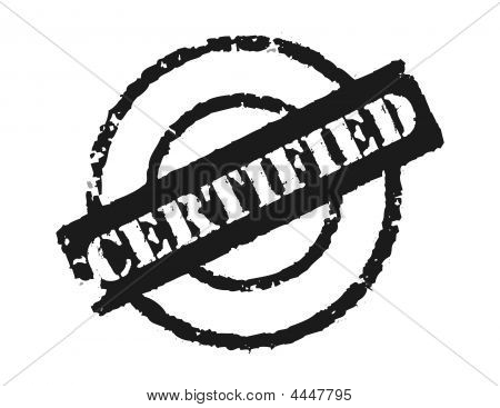 Stamp 'certified'