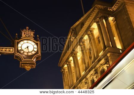 Bank Of England At Twilight.