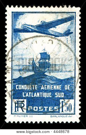 Rare Vintage Aircraft Stamp