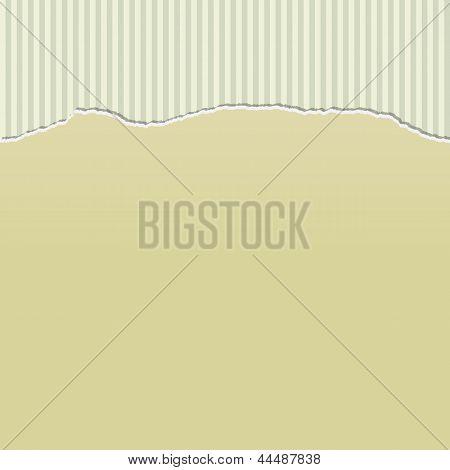 Beige Torn Paper On Stripes