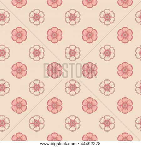 Fashion pattern with abstract flowers