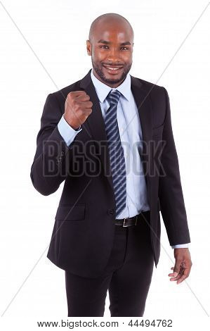 Black African American Business Man Clenched Fist - African People