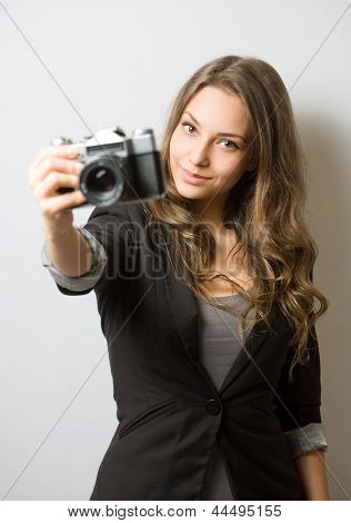 Cute Young Photographer.