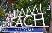 City of Miami Beach Florida welcome sign