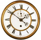 foto of roman numerals  - Vintage Victorian Old Clock Face with Roman Numerals - JPG