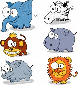 stock photo of cartoon animal  - Some cartoon animals  - JPG