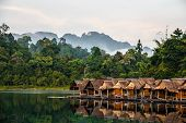 Bamboo Huts Floating